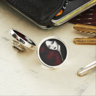 Asian gothic lapel pin
