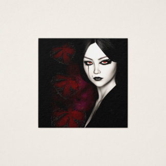 Asian gothic square business card