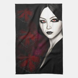 Asian gothic tea towels