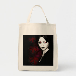 Asian gothic tote bag