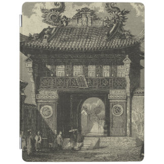 Asian Imperial Temple in Black & White iPad Cover