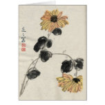Asian Inspired Vintage Cards - Daisys