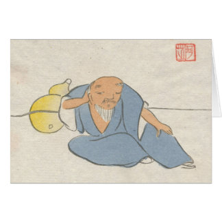 Asian Inspired Vintage Cards - Zen master