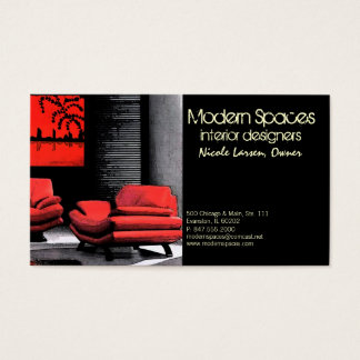 asian interior design business card