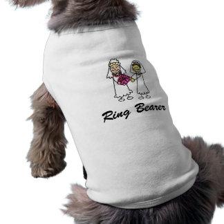 Asian interracial Lesbian Wedding Bride Sleeveless Dog Shirt