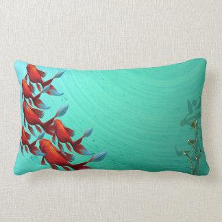 Asian Koi Fish Carp Digital Art Lumbar Cushion