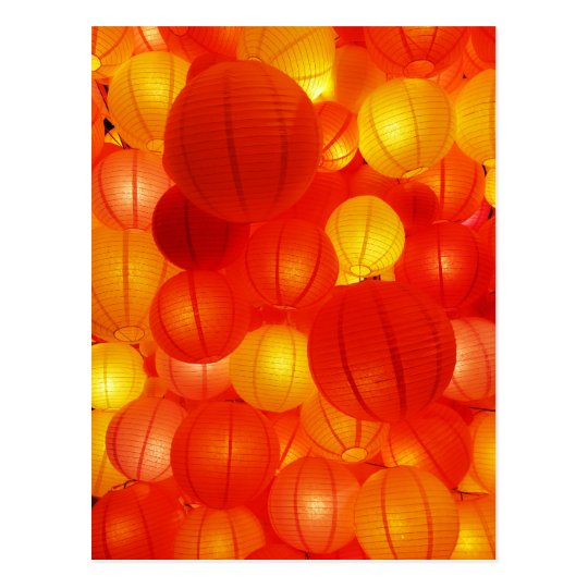 Asian Lanterns Postcard