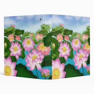 Asian Lotus Flower Garden Avery Binder