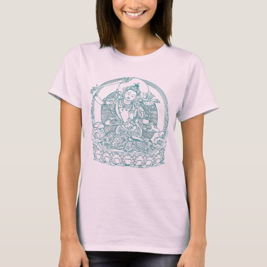 Asian Maiden Sitting On Lotus Flower T-Shirt