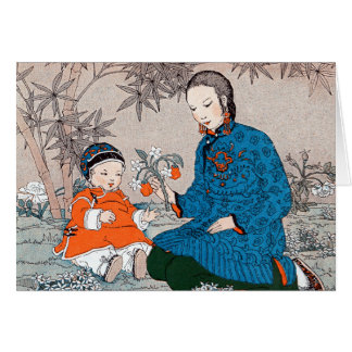 Asian Mother & Child Mother's Day Card
