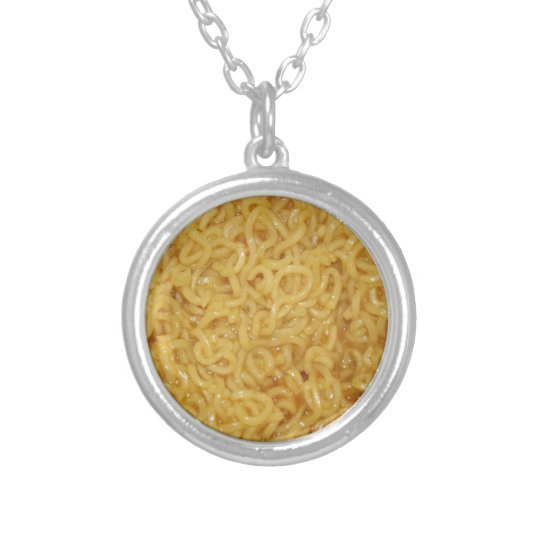 Asian Noodles Silver Plated Necklace
