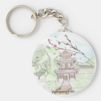 Asian Pagoda Key Ring