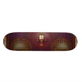 Asian Paper Lantern Pixel Art Skateboards