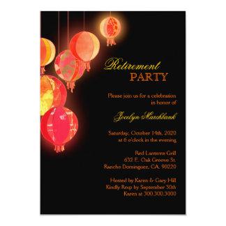 Asian Paper Lanterns Retirement Party 13 Cm X 18 Cm Invitation Card