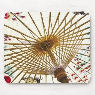 asian paper umbrella mouse mat