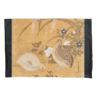 Asian Partridge Birds Flowers Animals Pillowcase
