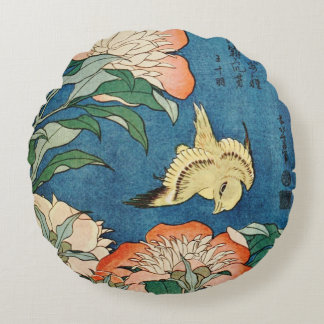 ASIAN PEONIES round pillow