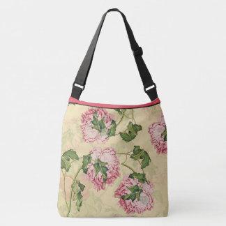 Asian Peony Flowers Shoulder Tote Bag