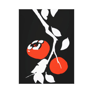 Asian Persimmon Canvas Print