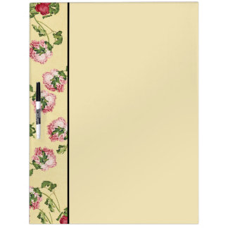 Asian Pink Peony Flowers Dry Erase Board