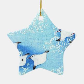 Asian Sea Birds Christmas Tree Ornaments