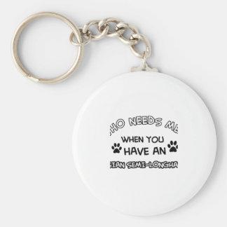 Asian Semi-longhair cat designs Key Chain