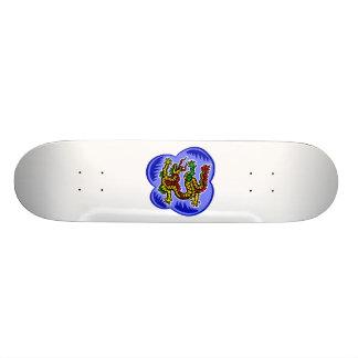 Asian Serpant Dragon Custom Skateboard