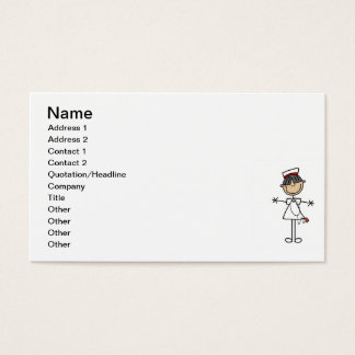 Asian Stick Figure Nurse T-shirts and Gifts Business Card
