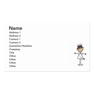 Asian Stick Figure Nurse T-shirts and Gifts Business Cards