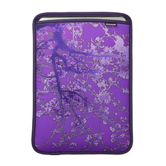Asian style lavender cherry blossoms sleeve for MacBook air