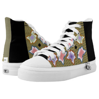 ASIAN STYLE TENNIS SHOES, i Art and Design Printed Shoes