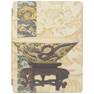 Asian Tapestry with Bowl and Dragon Design iPad Cover