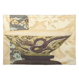 Asian Tapestry with Bowl and Dragon Design Placemat