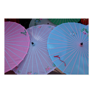 Asian Umbrellas Poster