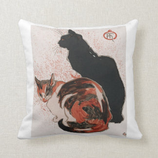 Asian watercolor cats cushion