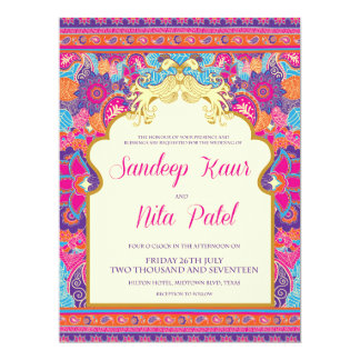 Asian - Wedding - Henna - Mehndi - Invitation