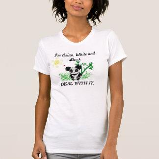 Asian, white, black panda T-Shirt