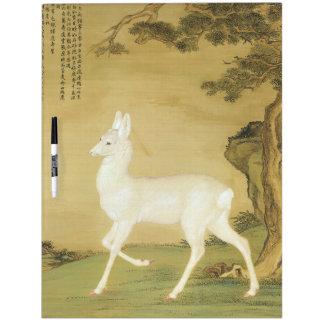 Asian White Roe Deer Animal Dry Erase Board