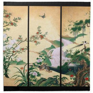 Asian Wisteria Dove Birds Flower Cloth Napkins