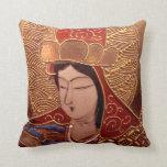 Asian Woman Decorative Pillow Throw Cushions