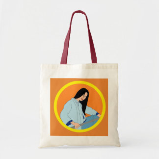 Asian Woman Illustrated Tote Bag