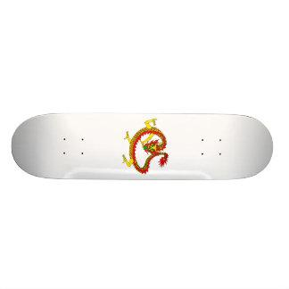 Asian Yellow Dragon Skate Decks