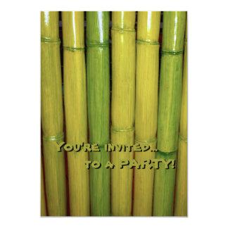 Asian Zen Green Bamboo Stalks Botanical 13 Cm X 18 Cm Invitation Card