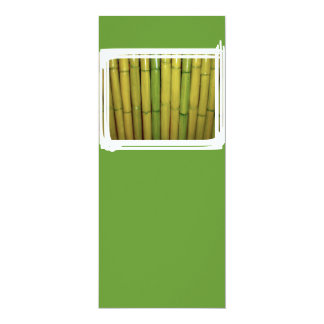 Asian Zen Green Bamboo Stalks Botanical Photo 10 Cm X 24 Cm Invitation Card