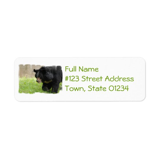 Asiatic Black Bear Mailing Label