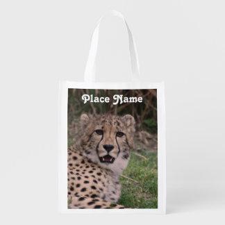 Asiatic Cheetah Reusable Grocery Bag
