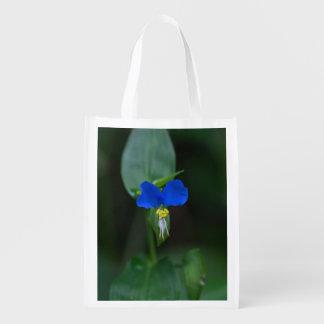 Asiatic Dayflower Blue Wildflower Reusable Bag