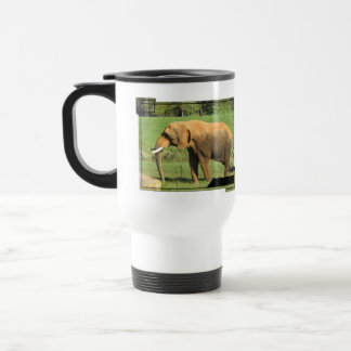 Asiatic Elephant  Plastic Travel Mug