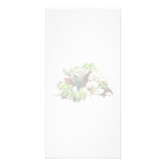 Asiatic Lilies, Hydrangea and Berries Customised Photo Card