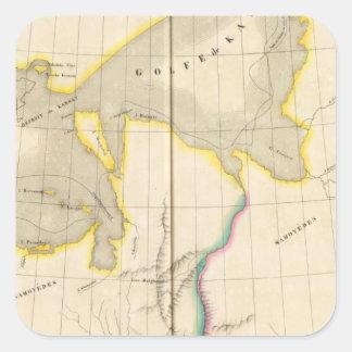 Asiatic Russia, Asia 5 Square Sticker